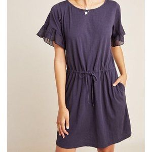 Velvet by Graham & Spencer Navy Tie Waist Dress